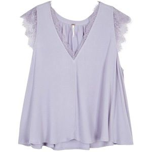 Free people lilac lovin on you reversible blouse
